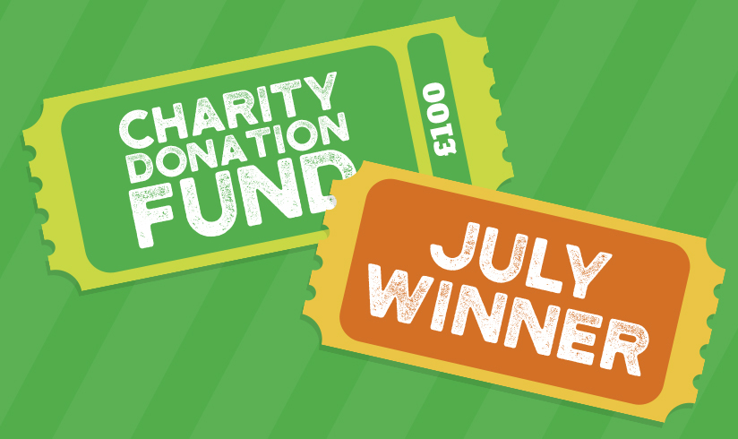 July charity donation fund winner