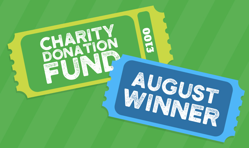 charity donation fund August winner