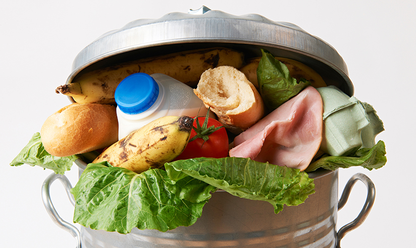 Food waste in the bin