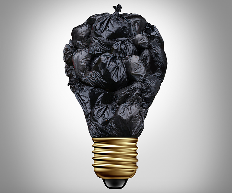 Bin bag lightbulb