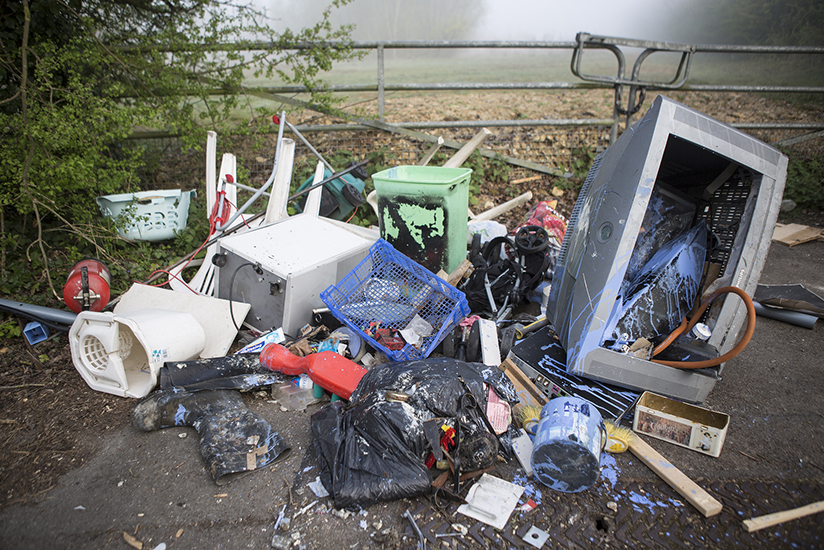 Fly tipping waste