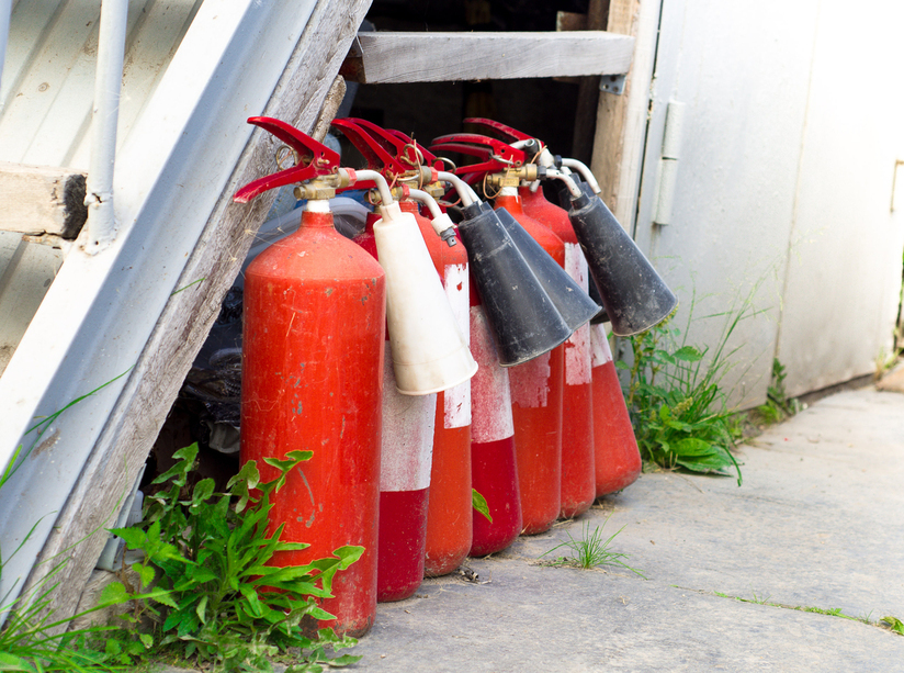 old fire extinguishers hazardous waste