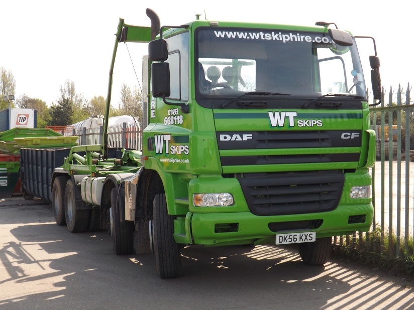 One of our skip hire vehicles.