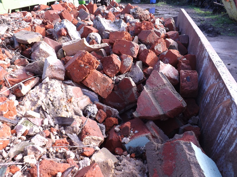 Rubble from a home renovation in our skips.