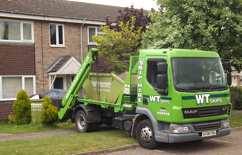 Delivery of a skip in Norwich
