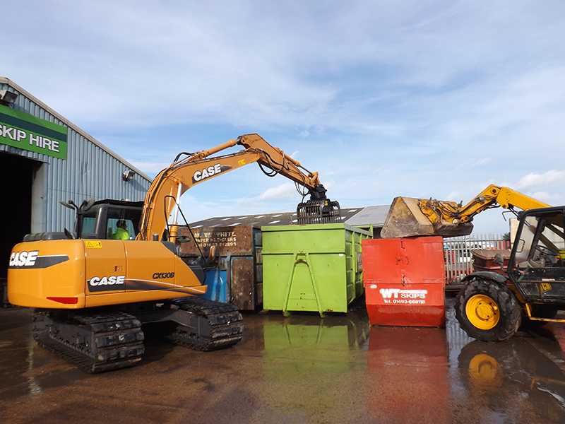 Management of waste at WT Skip Hire