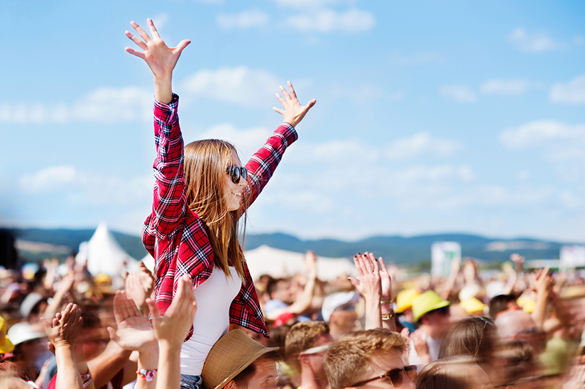 Woman at music festival