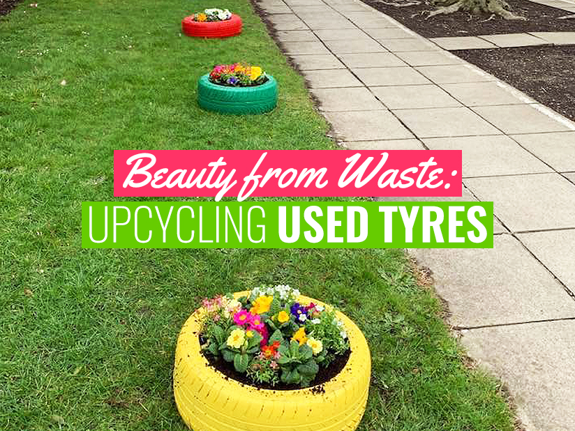 Beauty from Waste: Upcycling Used Tyres