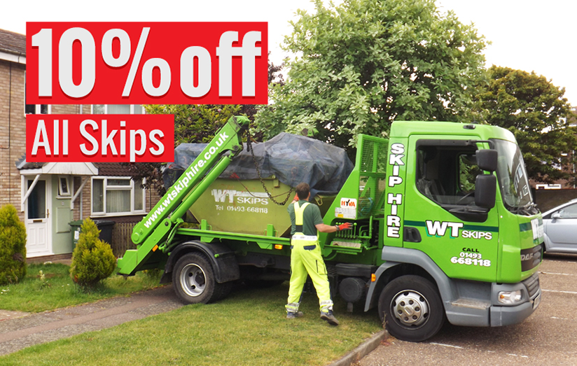 10 percent off skip hire post