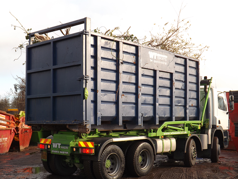 WT Skip Hire container