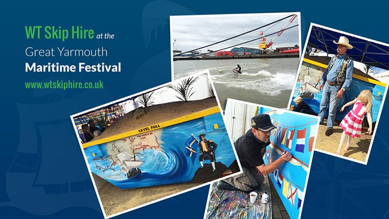 WT Skip Hire at a Maritime Festival