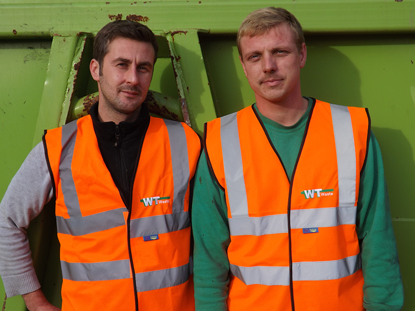 WT Skip Hire team